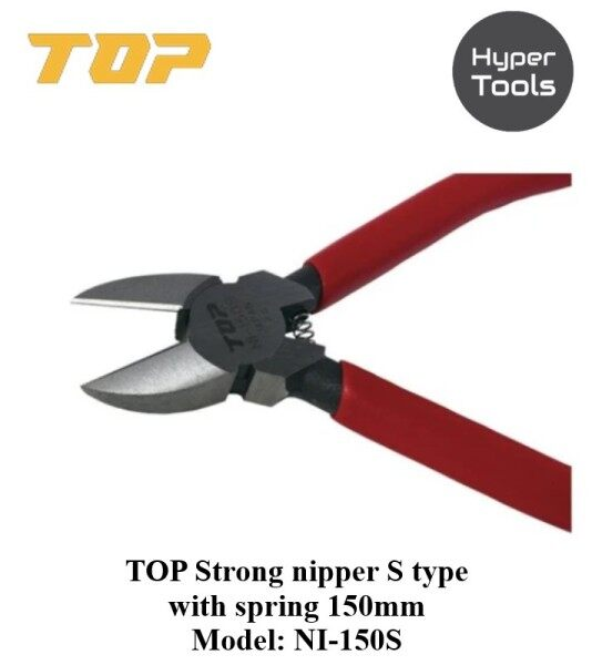TOP S Type Diagonal Cutting Plier 150mm (Model: NI-150S)