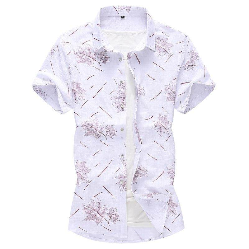 67a8254af91 5XL 6XL 7XL Big Size Summer Men s Short Shirt 2019 New Fashion Casual  Hawaii Flower Shirt