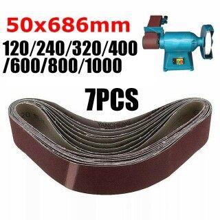 7 - 50x686mm-Sanding Vành Đai Mài Mòn, Cho Máy Mài Gỗ Kim Loại, 120-1000 Grit thumbnail