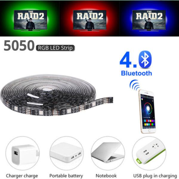 Bảng giá USB LED Strip Đèn Usb Led Linh Hoạt DC 5V 50CM 1M 2M 3M 5M Điều Khiển Bluetooth RGB 5050 Đèn Nền TV Trang Trí Nhà Cửa