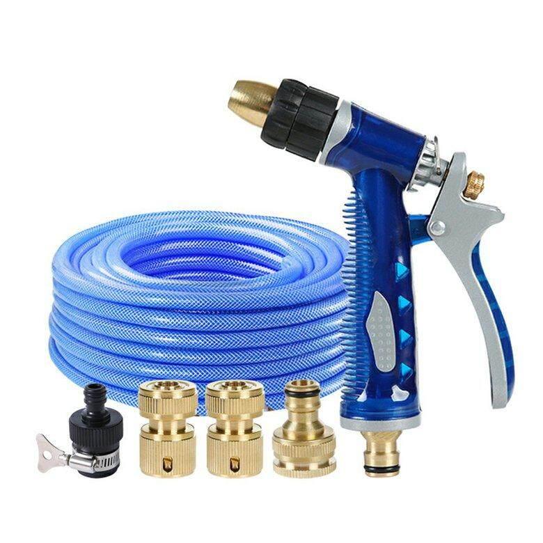 HORI Household Sea Blue Car Wash Water gu*n Water gu*n  Connector Hose  Set