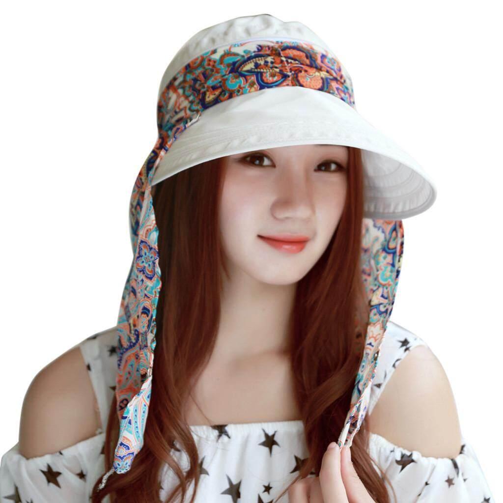 Qusaystore Summer Women s Outdoor Beach Sunscreen Cap UV Protection Caps Sun  Visor Hat a6456a978dc3