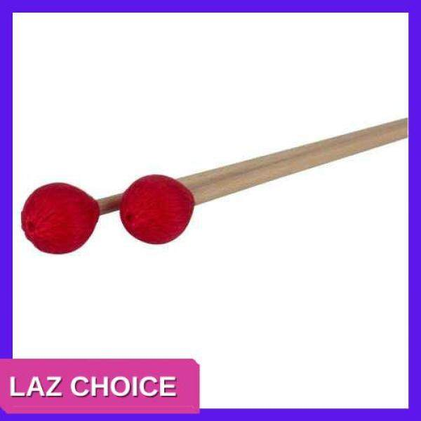 LAZ CHOICE Middle Marimba Stick Mallets Xylophone Glockensplel Mallet with Beech Handle Percussion Kit Musical Instrument Accessories Mallets for Professionals Amateurs 1 Pair Red (Red) Malaysia