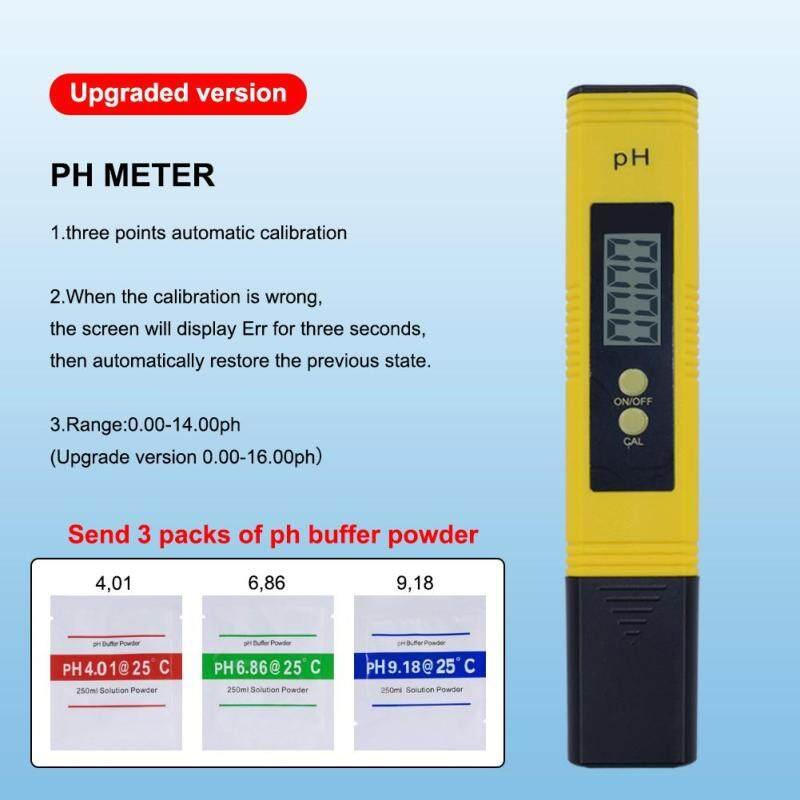 Yieryi Máy cập nhật MÀN HÌNH Kỹ Thuật Số LCD Đồng hồ đo độ PH PH Bút thử Kiểm Tra Nước Uống, Thủy Canh, Bể Cá, Hồ Bơi.