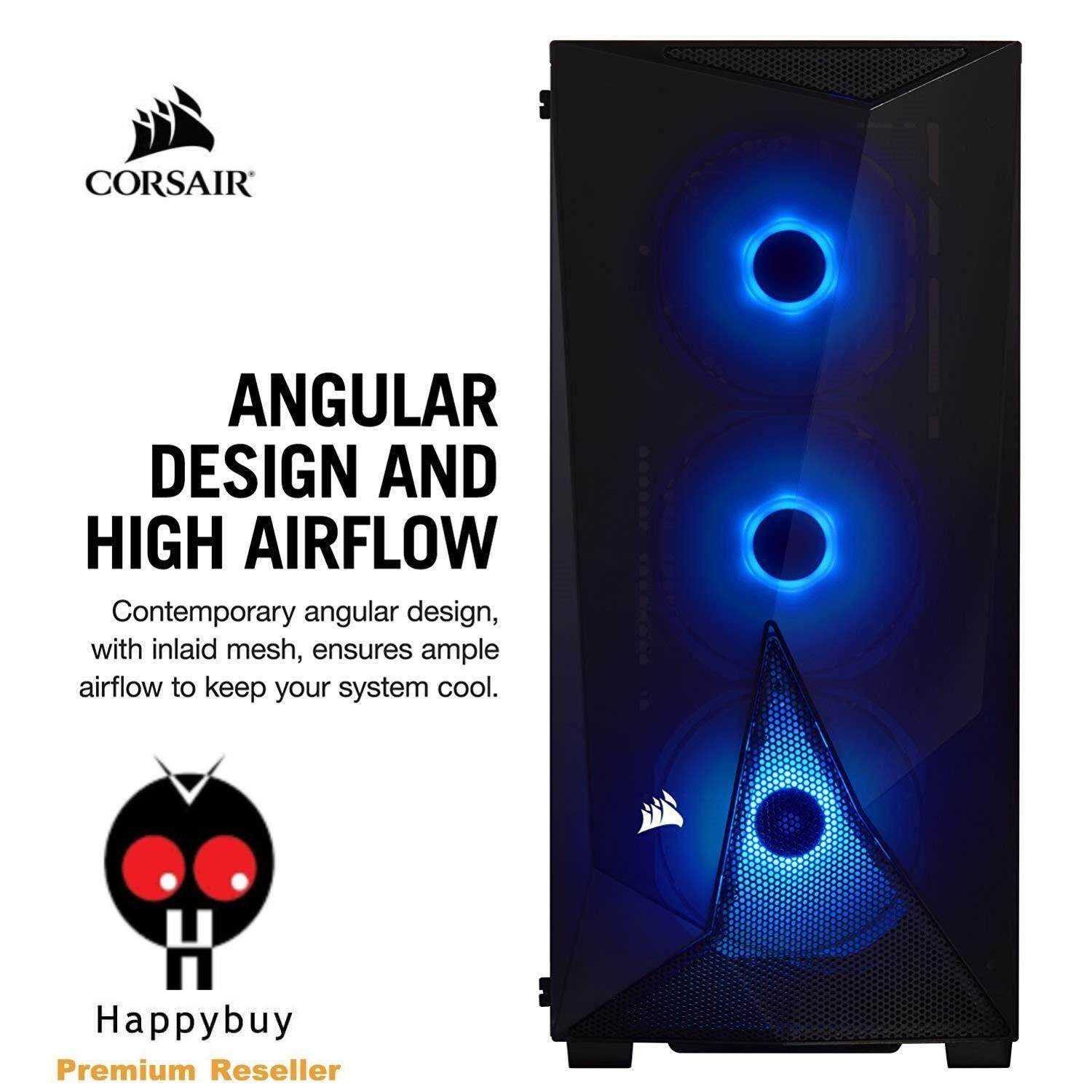 CORSAIR Carbide Series SPEC-DELTA RGB Mid-Tower ATX Gaming Case, Tempered Glass Malaysia
