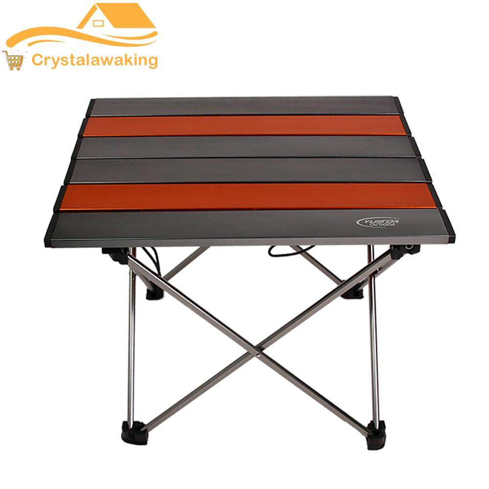 Lightweigh Outdoor Folding Table Aluminum Portable Foldable Desk for Garden Picnic Camping Cooking