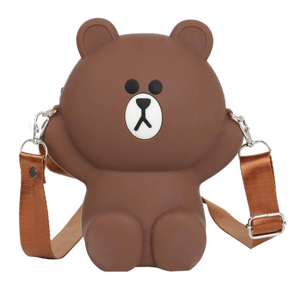 BAGOO Cute Bear Girl Travel Bag Women Shoulder Messenger Parent-child Coin Purse