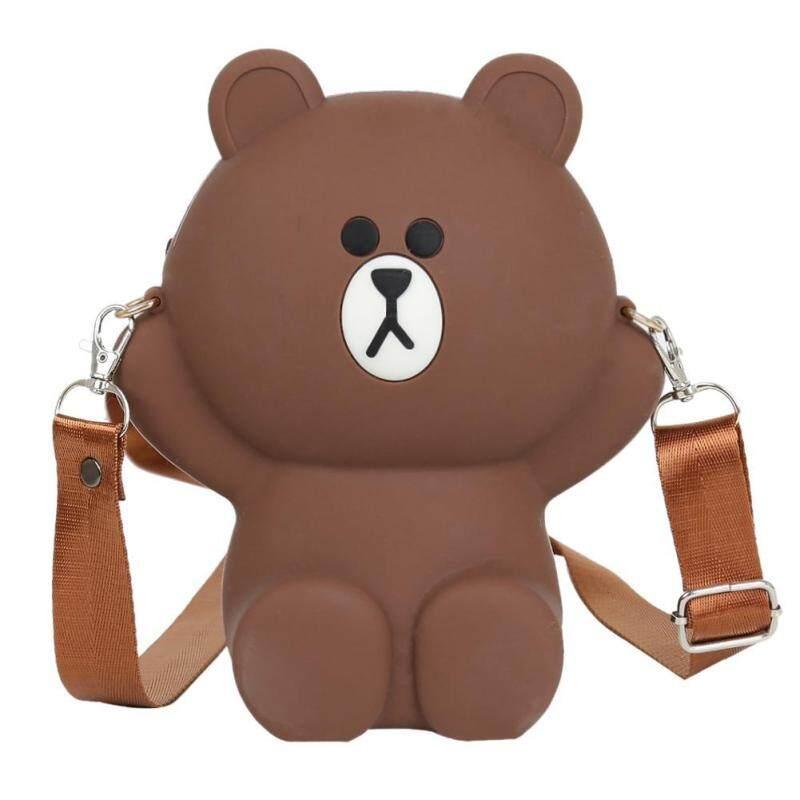 BAGOO Cute Bear Girl Travel Bag Women Shoulder Messenger Parent-child Coin Purse