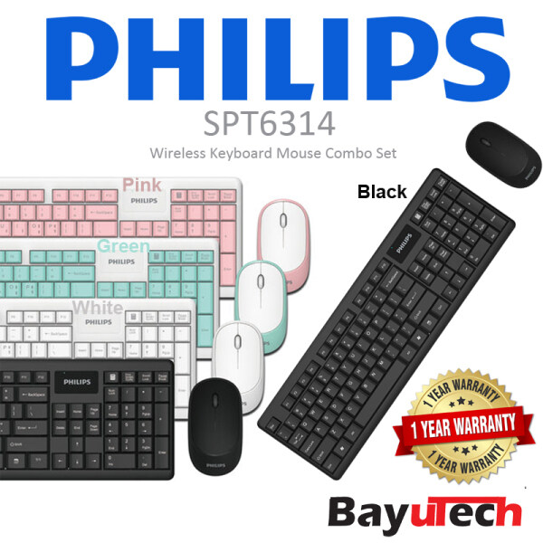 Philips SPT6314 Wireless Keyboard and Mouse Combo Malaysia