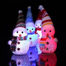 1 Chiếc Đèn Nhiều Màu Sắc, Đèn LED Trang Trí Ông Già Noel Người Tuyết Phát Sáng Giáng Sinh Đèn Cây Giáng Sinh, Treo Trang Trí Nhà
