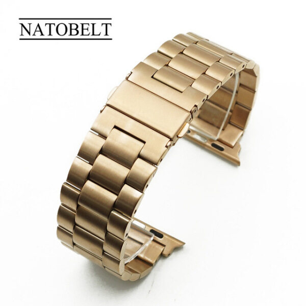 Gold Strap For Apple Watch 44/42/40/38mm Band Fashion Metal Sport Bracelet Stainless Steel Watch For iWatch Series 5 4 3 2 1 Malaysia