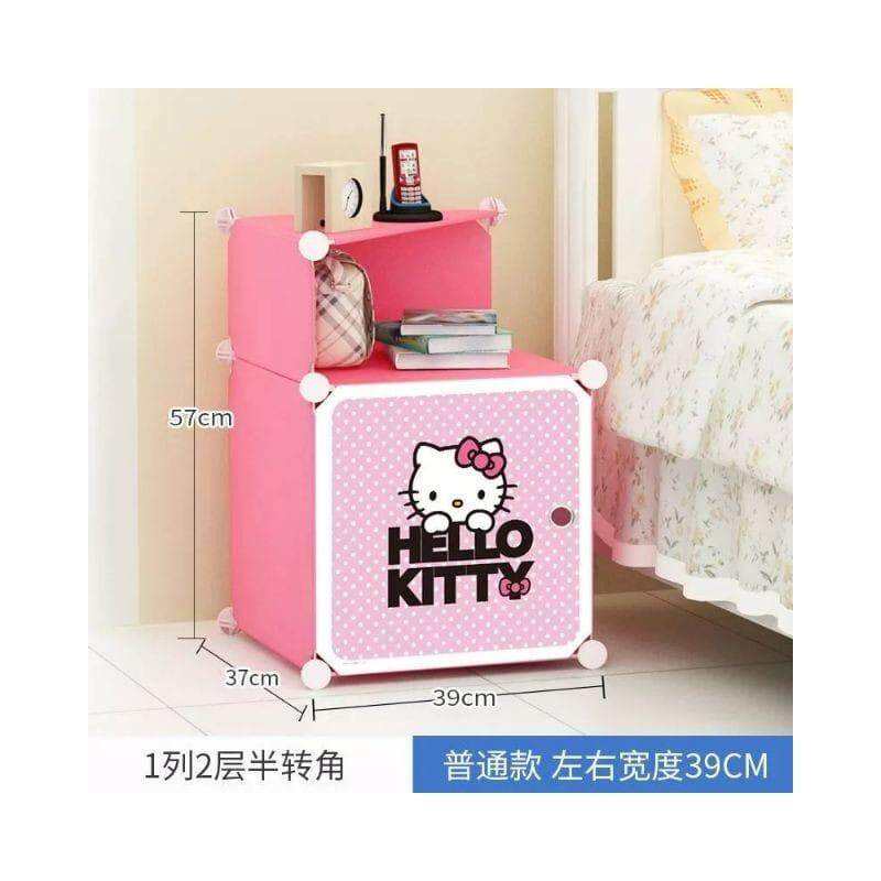 Hello Kitty Side Table Racks Cabinet Shelf Table (pink) By Kinowell.mall.