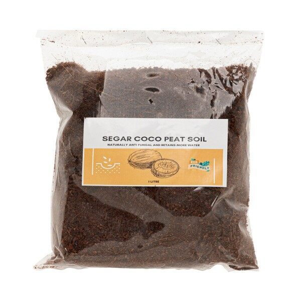 Segar Coco Peat Soil Water Retain Anti Fungus 1 L