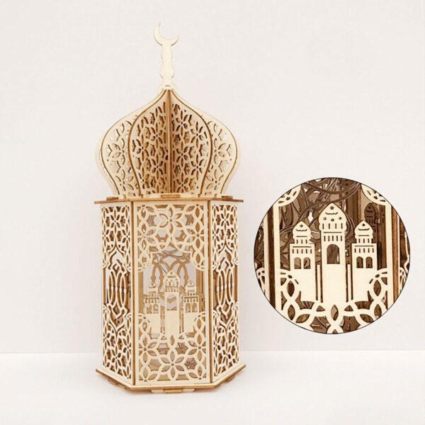 Bảng giá Eid Mubarak Ramadan Advent Light, Cung Điện Thủ Công Bằng Gỗ Đồ Trang Trí Nhà Tự Làm Miễn phí vận chuyển