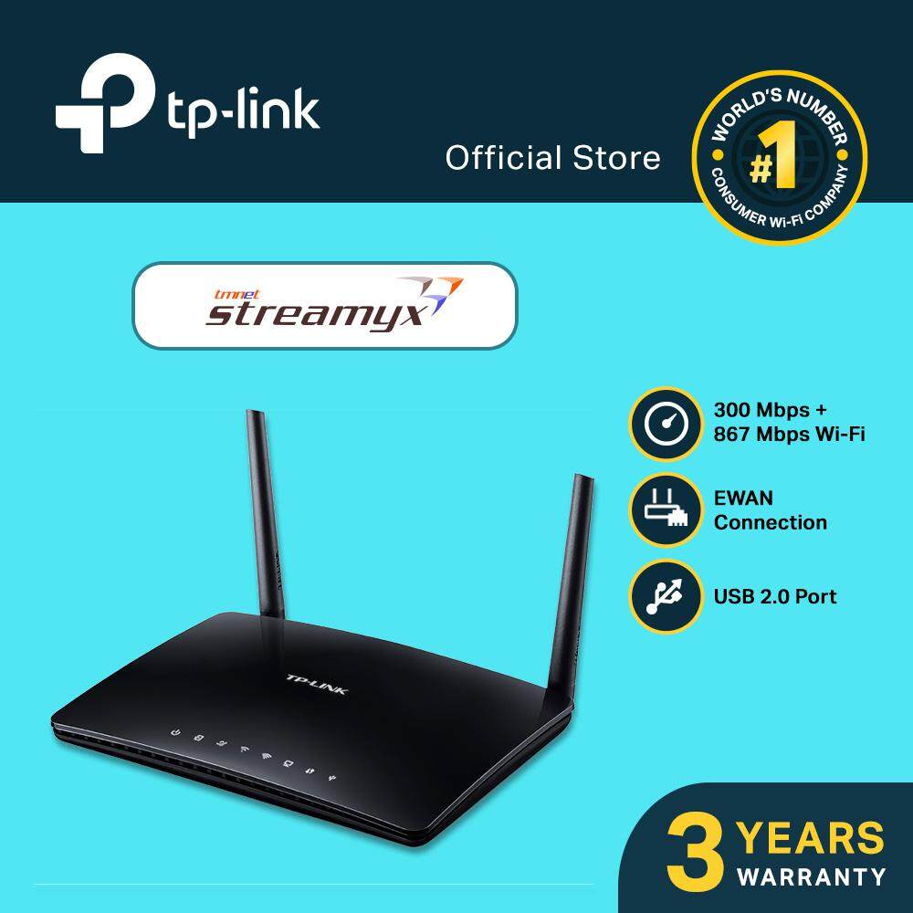 Tp-Link - Ac1200 Wireless Dual Band Adsl2+ Modem Router, Archer D50 (support Streamyx) By Tp-Link Malaysia.