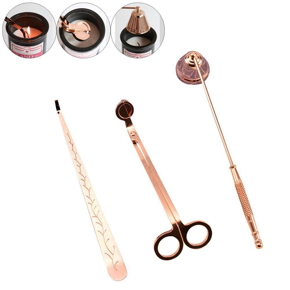SeaLavender Candle Snuffer Candle Accessory Set, Best Gift with Wick Trimmer, Wick Dipper & Bell Snuffer Stainless Tools Pack