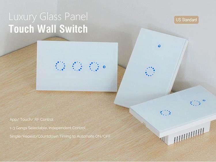 Sonoff T1 HOA KỲ 1/2/3 Băng Đảng Thông Minh Công Tắc Đèn Cảm Ứng Thông Minh Wifi Điều Khiển Từ Xa RF Đèn Thời Gian đếm ngược âm Tường