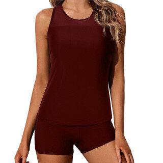 [Bán Chạy] Áo Tắm Tankini Nữ Showvie Hàng Đầu Áo Kiểm Soát Bụng Với Quần Short, Bộ Đồ Tắm Hai Mảnh thumbnail