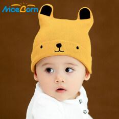 Mũ len NiceBorn mềm mại ấm áp họa tiết hình gấu dễ thương dành cho bé trai/bé gái – INTL