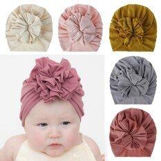 I LOVE DADDY & MUMMY Mũ Bonnet Cho Bé Hình Hoa Lớn Phụ Kiện Mũ Bé Trai Bé Gái Bằng Cotton Mềm Khăn Xếp Mũ Beanie Trẻ Em Trẻ Mới Biết Đi Mùa Xuân Hè