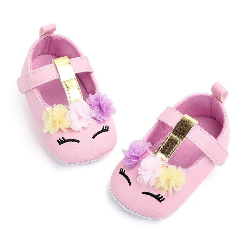 33a91a926710c I Love Daddy&Mummy Baby Shoes Cute Flower Unicorn Baby Girl Flats Soft  Cotton Newborn Anti Slip Sandals 0-18 Months