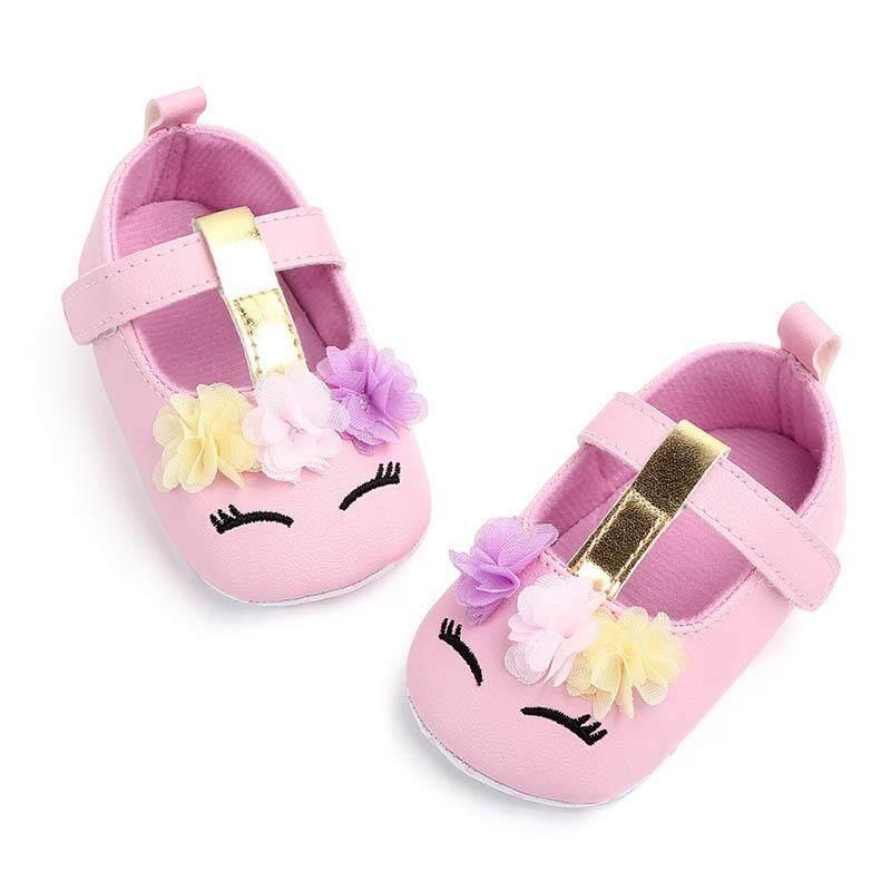 7ae72cb839 I Love Daddy&Mummy Baby Shoes Cute Flower Unicorn Baby Girl Flats Soft  Cotton Newborn Anti Slip Sandals 0-18 Months