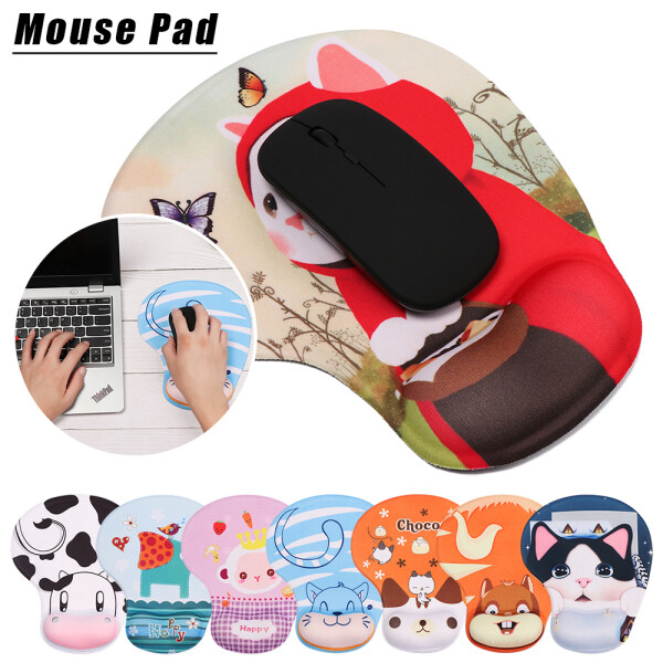 【COD&Ready Stock】Cute Ergonomic Wrist Rest Mouse Pad Wrist Support Non Slip Mice Mat Soft Mousepad For PC Laptop Computer Malaysia