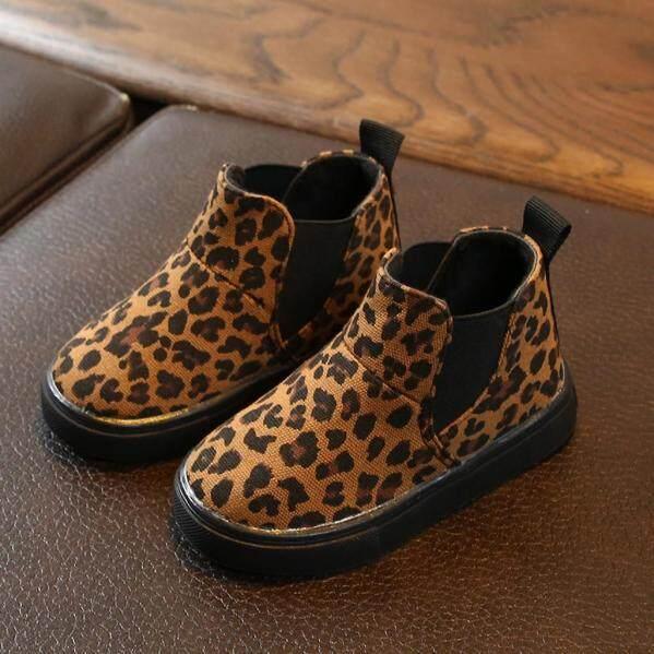 Giày Trẻ Em, Giày Trẻ Em Đế Mềm Giày Em Bé Bốt Ngắn Ấm Áp Mùa Đông Hình Báo Cho Trẻ Em Bé Gái Giày Thường Ngày giá rẻ