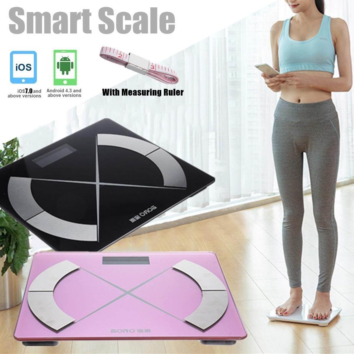 Smart Digital Body Fat Weight Health Scale Fitness Black
