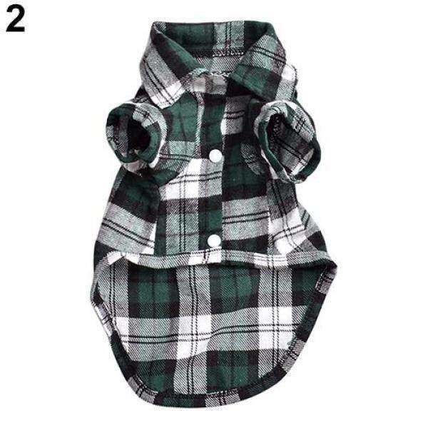 Áo phông hoạ tiết kẻ ca rô dễ thương dành cho chó con, có các kích cỡ XS S M L - INTL