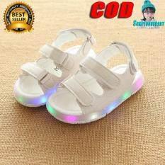 Hàng Mới Về Gái Bé Trai Giày Sandal LED Phát Sáng Trẻ Em Giày Đi Biển Mùa Hè Trẻ Em Giày Nữ Dễ Thương Giày Thiết Kế Giản Dị Trẻ Em Xăng Đan