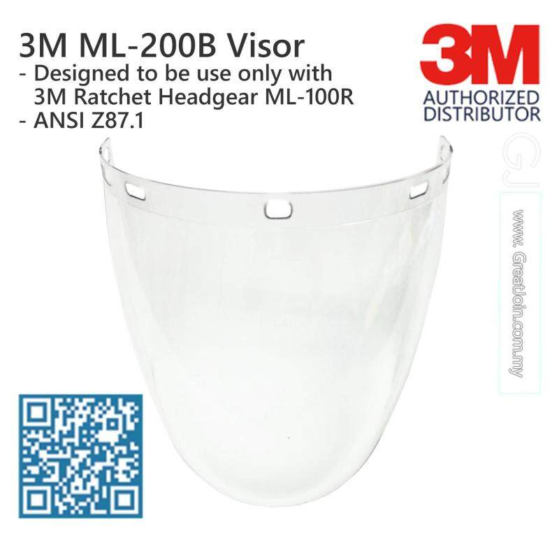 3M ML-200B Visor / Used ONLY with 3M Ratchet Headgear ML-100R [Visor only, Not Including Headgear] [1 piece]
