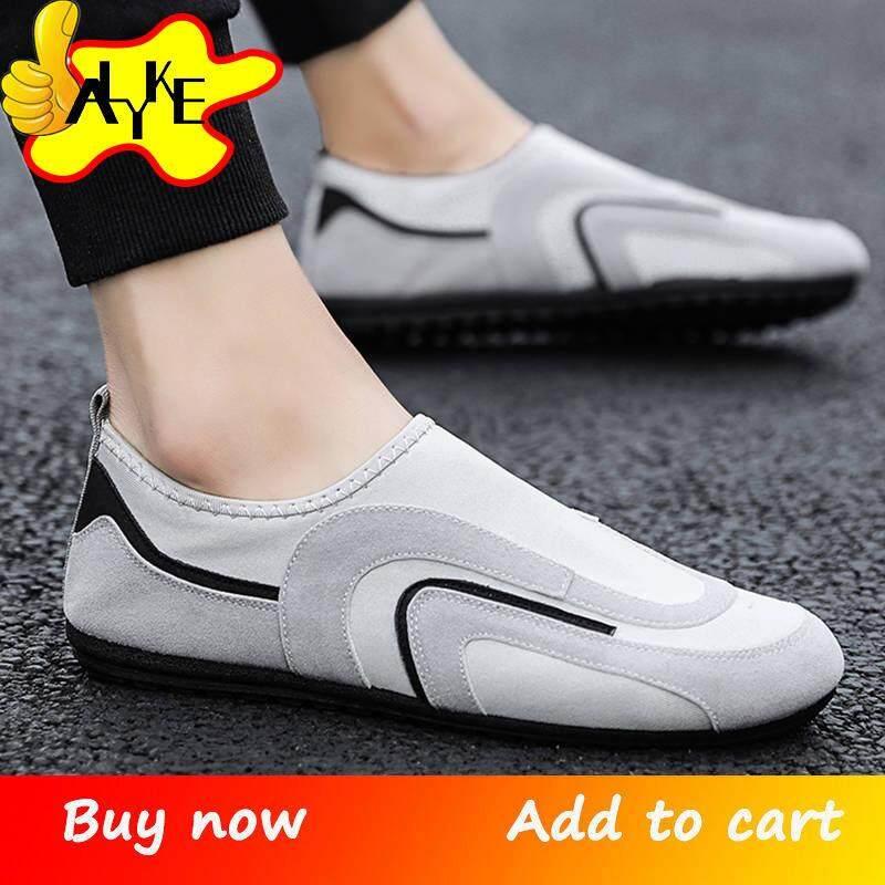 Alyke รองเท้า Loafers ผู้ชายรองเท้าลำลองสำหรับรองเท้าผ้าใบผู้ชายสำหรับผู้ชาย Loafers ผู้ชายรองเท้าสำหรับรองเท้าส้นเตี้ยโลฟเฟอร์บุรุษรองเท้าส้นเตี้ยรองเท้าสวมสะดวกผู้ชายรองเท้า Slip On ชายรองเท้าขนาด 39-44.