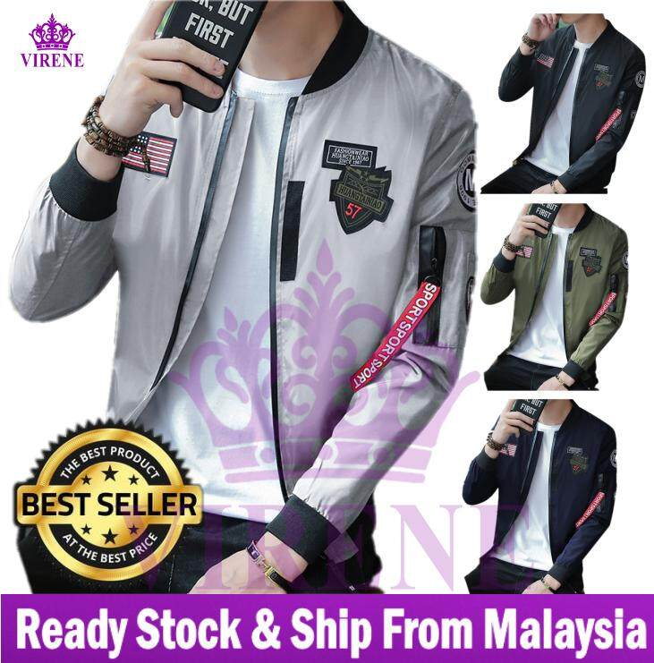 d019fec87 【Ready Stock - Premium Quality - Fast Delivery】Korean Style Men Slim Fit  Bomber