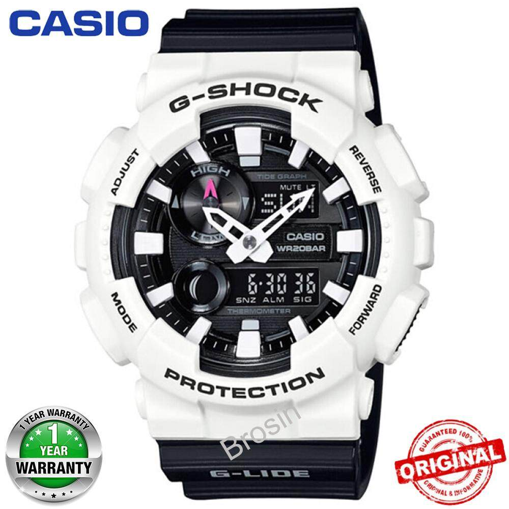 (Ready Stock) G-Shock GA110 Duo W/Time 200M Water Resistant Shockproof and Waterproof World Time Sports Watch LED Auto Light Wist Sport Watches for Men with 1 Year Warranty Black White GAX-100B-7A Malaysia