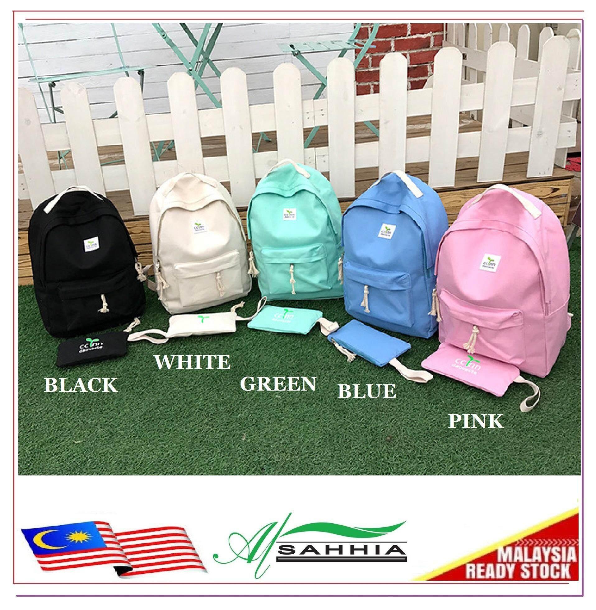 Al Sahhia Ready Stock 2 in 1 Korean CC INN Backpack Travel Casual Bag
