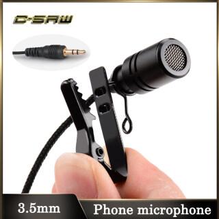 C-SAW 3.5Mm Lavalier Clip Trên Micrô Điện Dung Ve Áo Để Micro Điện Thoại Di Động Để Ghi Âm Micrô Ghi Âm Micro Điện Thoại Micro Asmr thumbnail