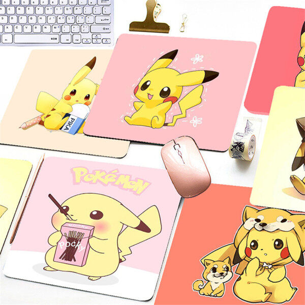 Cartoon Pikachu Printed Mouse Pad Game Office Home Multimedia Computer Keyboard Non-slip Mouse Pad Malaysia