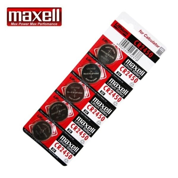 5PCS CR2450 GENUINE Maxell Lithium Battery 3V Malaysia