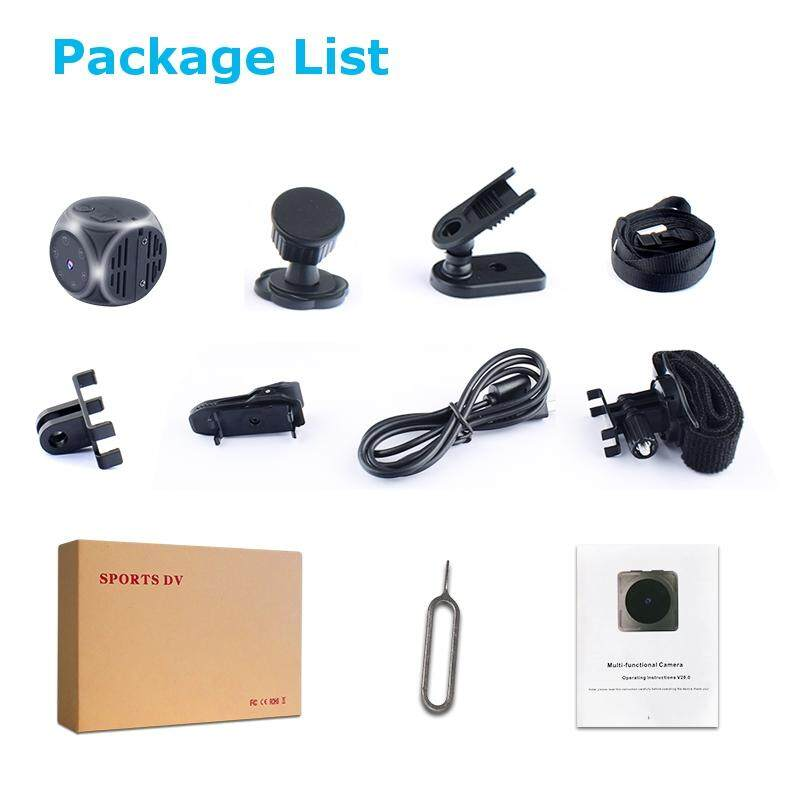 Mini 1920*1080P HD DV Recorder FPV Camera FOV 140 Degree Built-in Battery Support 32G SD Card For RC Drone Sport Action Camera