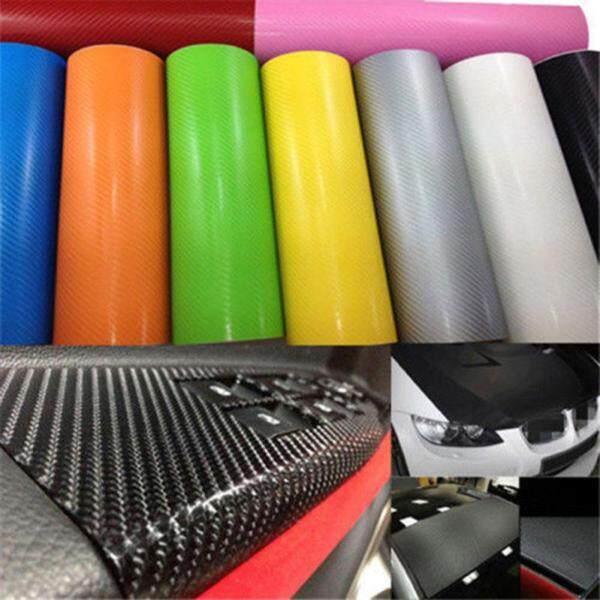 Janedream 10Cm * 127Cm/10Cm * 152Cm/20Cm * 152Cm/20Cm * 127Cm Tùy Chọn Màu 3D Kết Cấu Bọc Sợi CARBON Đề Can Xe Hơi Vinyl Nhãn Dán Xe Tấm