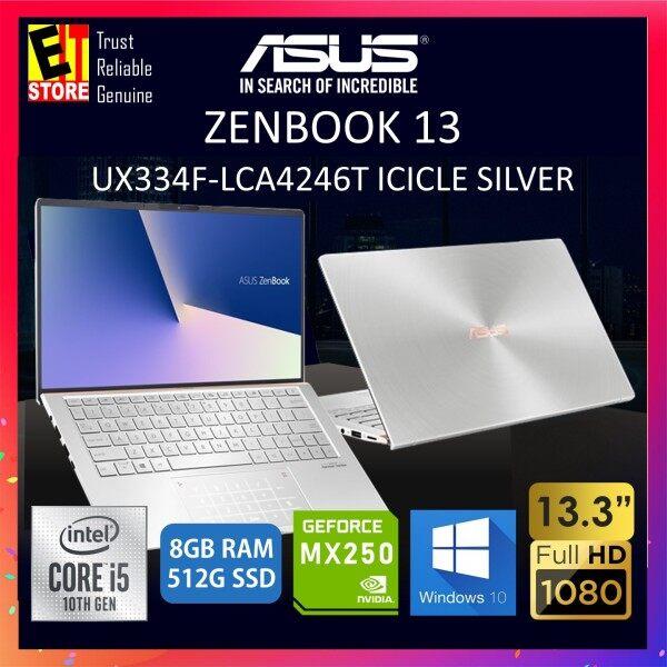 ASUS ZENBOOK 13 UX334F-LCA4246T / UX334F-LCA4112T LAPTOP (I5-10210U/8GB/512GB SSD/13.3  FHD/MX250 2GB/W10/2YRS) + SLEEVE Malaysia