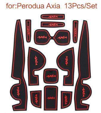 Perodua Axia Interior Slot Mat Anti Slip By Cyberian Store.
