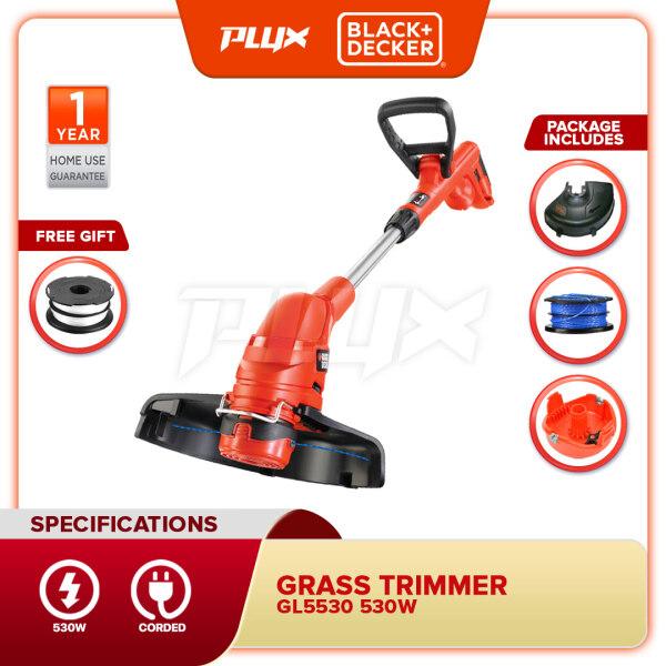 BLACK & DECKER GL5530 530W String Grass Strimmer 30CM + 1 FOC Spool Line (GL5530 , GL5530-B1)