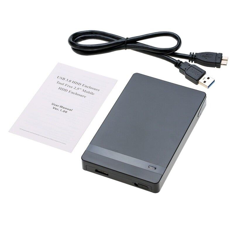 Giá Siêu Tốc Độ 6Gbps 2TB 2.5  SATA SSD Ổ Đĩa Cứng Sang USB 3.0 Adapter Chuyển Đổi Thẻ bên Ngoài Ngăn Kéo Đơn Vị Kèm Ốp Lưng Caddy + Tặng Cáp USB