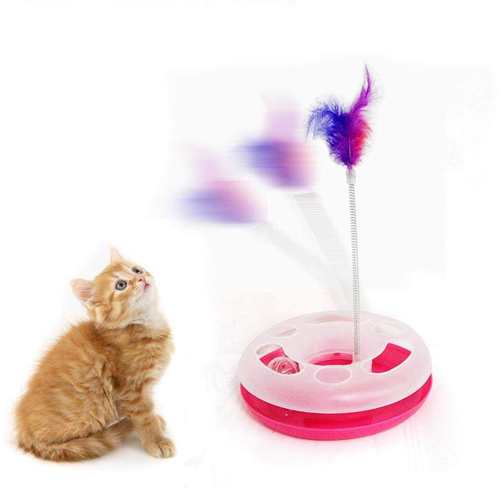 Cat Toys Spring Mice Crazy Amusement Disk Multifunctional Disk Play Activity Pet Funny Toys By Lovefreebuy.