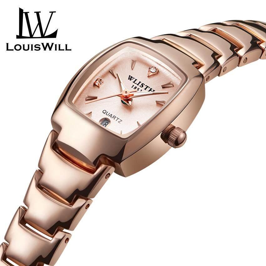 9424218726 LouisWill Women Fashion Watch Sports Quartz Women Watches 30M Waterproof Women  Wristwatches Business Stainless Steel Band