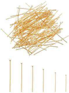 Ready Stock 240pcs 6 Sizes Metal Flat Head Pins 304 Stainless Steel 15.3 18.5 22 30 35 50mm for DIY Beading Jewelry Making thumbnail