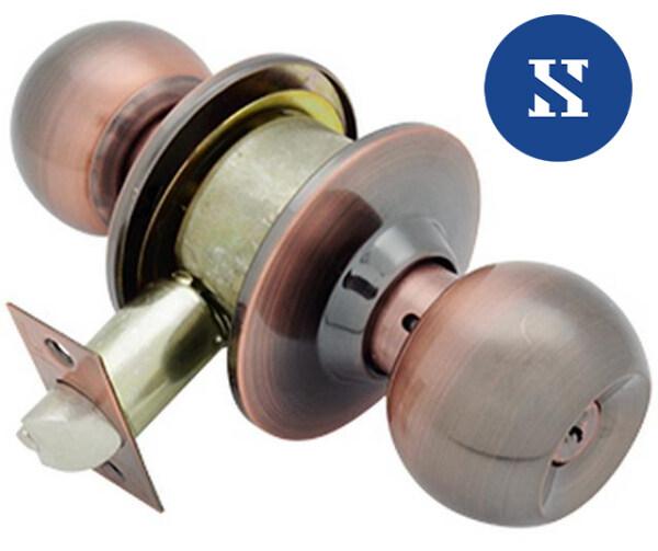 Cylinder Door Lock Set Cylindrical for Home Bedroom Room Door Tombol Pintu