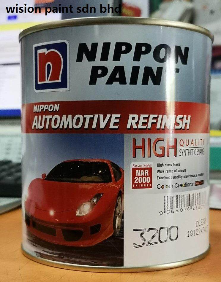 clear 3200 high quality ( 1L ) NIPPON PAINT AUTOMOTIVE REFINISH FOR CAR CLEAR FINISH 1 LITER SYNTHETIC ENAMEL